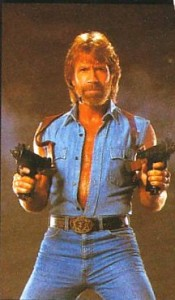 Picture of Chuck Norris at Age 3 with Full Beard and Guns